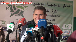 Photo of تصريح مدرب الرجاء البيضاوي بعد مقابلة فريقه ضد المولودية الوجدية بالملعب البلدي بنتيجة 1 ـ 1
