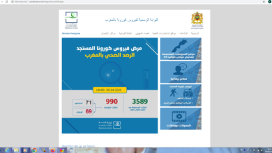 Photo of الحالة الوبائية بالمغرب : تسجيل 107 حالة جديدة مصابة بفيروس كورونا المستجد ـ كوفيد 19 ـ  خلال 24 ساعة الأخيرة و11 حالة وفاة