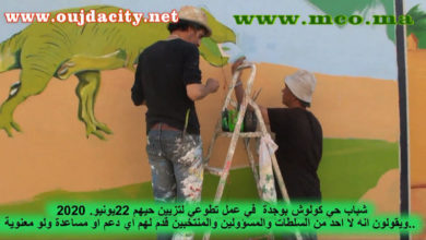 Photo of الشباب الايجابي بوجدة  يواصلون تزيين احيائهم …نموذج اليوم  شباب حي كولوش VIDEO